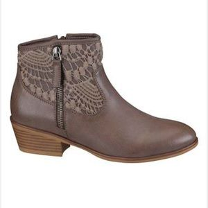 Maurices Heather Crochet Ankle Boot!
